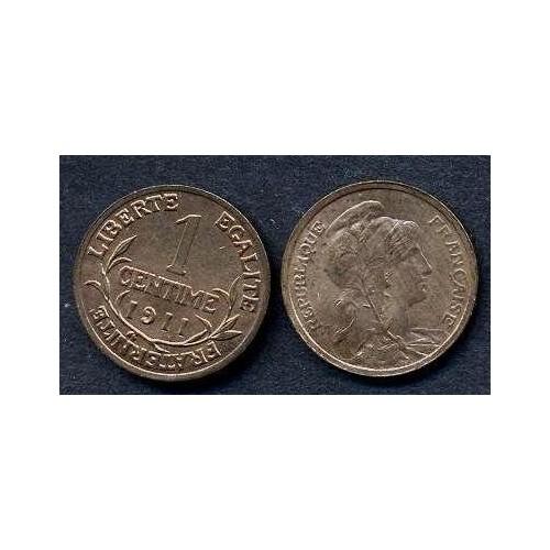 FRANCE 1 Centime 1911