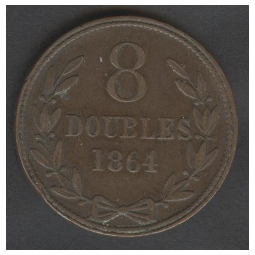 GUERNSEY 8 Doubles 1864