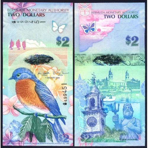 """BERMUDA 2 Dollars 2009 """"Onion"""""""