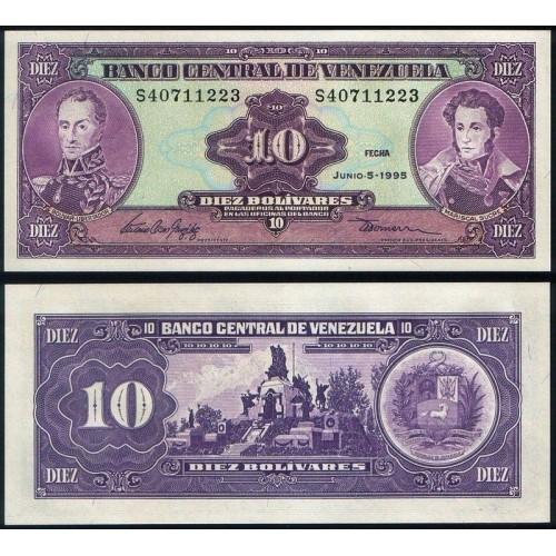 VENEZUELA 10 Bolivares 1995