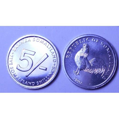 SOMALILAND 5 Shillings 2002...