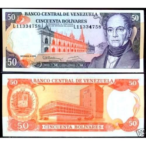 VENEZUELA 50 Bolivares 1992