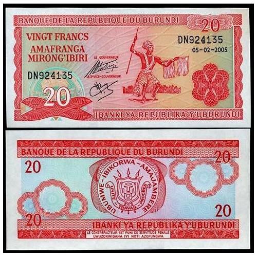 BURUNDI 20 Francs 2005