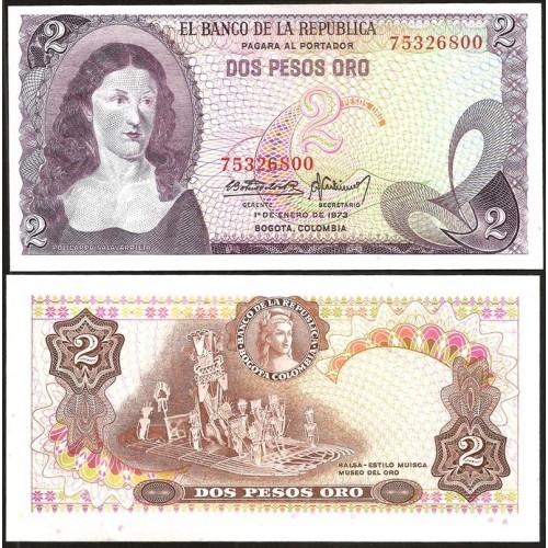 COLOMBIA 2 Peso Oro 01.01.1973