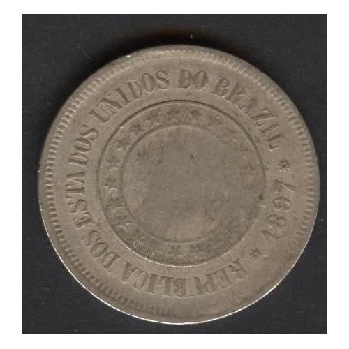BRAZIL 100 Reis 1897