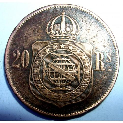 BRAZIL 20 Reis 1870