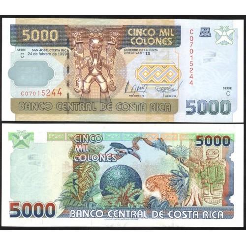 COSTA RICA 5000 Colones 1999