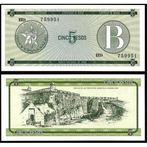 CUBA 5 Pesos 1985 Serie B