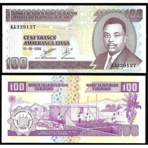 BURUNDI 100 Francs 2006
