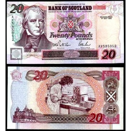 SCOTLAND 20 Pounds 1995...