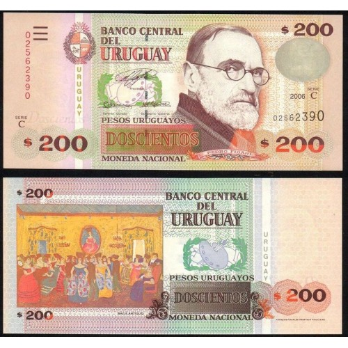 URUGUAY 200 Pesos 2006