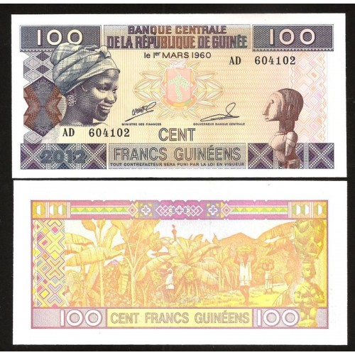 GUINEA 100 Francs 2012