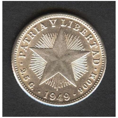 CUBA 10 Centavos 1949 AG