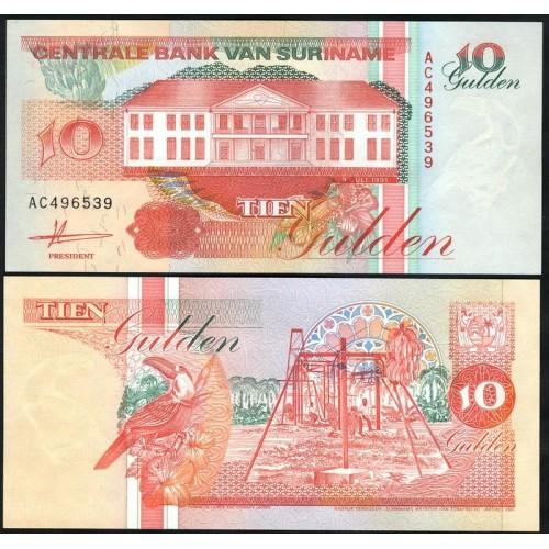 SURINAME 10 Gulden 1991