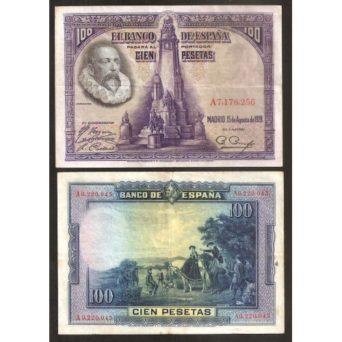 SPAIN 100 Pesetas 1928