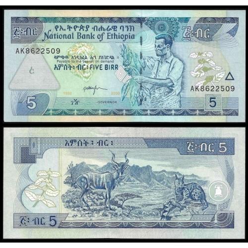 ETHIOPIA 5 Birr 2000