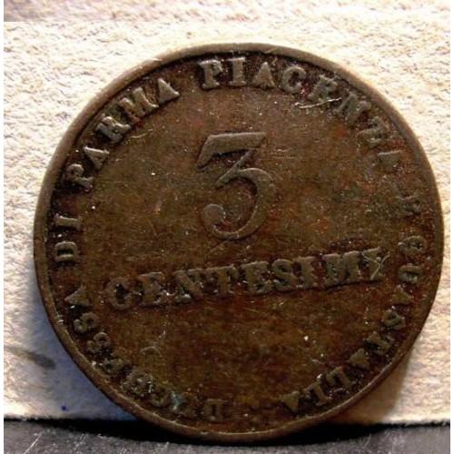 Maria Luigia 3 Centesimi 1830