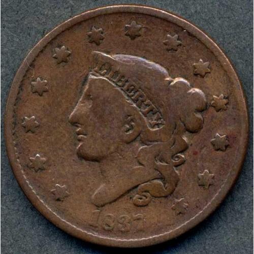 USA 1 Cent 1837 Coronet