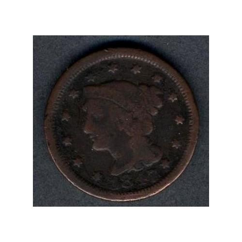 USA 1 Cent 1847 Braided Hair