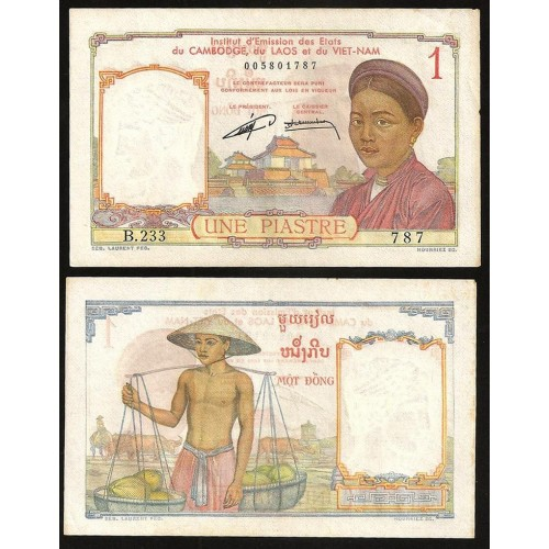 FRENCH INDOCHINA 1 Piastre...