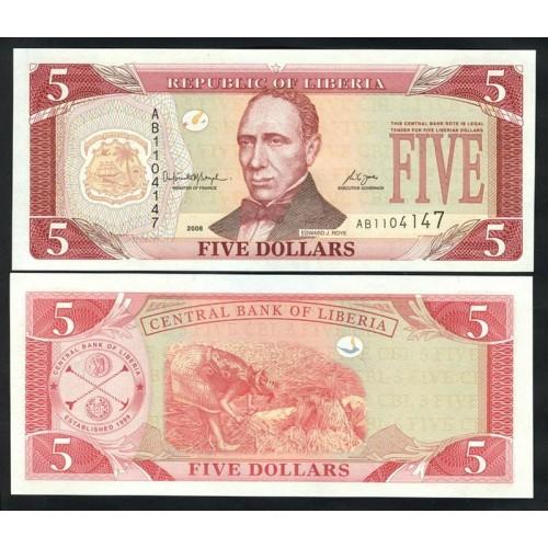 LIBERIA 5 Dollars 2006