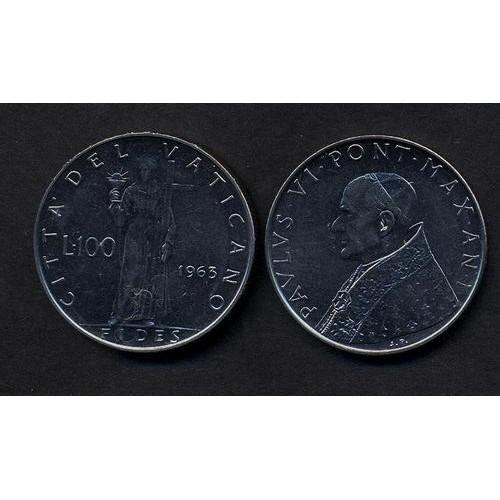 VATICANO 100 Lire 1963