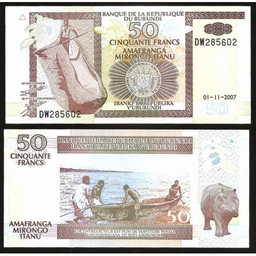 BURUNDI 50 Francs 2007