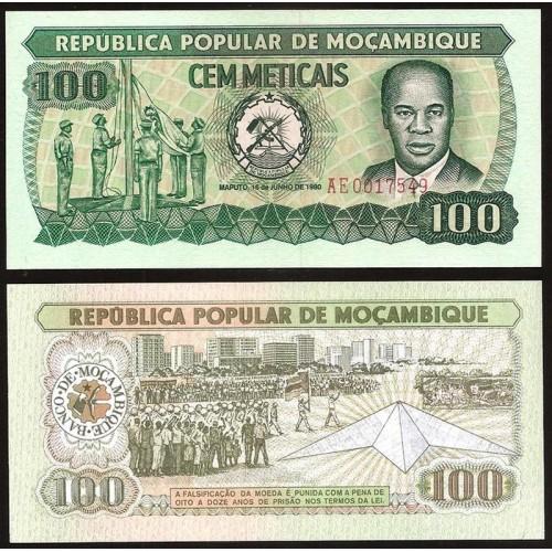 MOZAMBIQUE 100 Meticais 1980