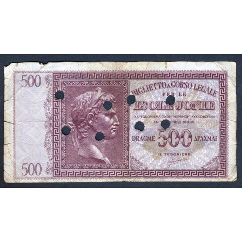 ISOLE JONIE 500 Dracme 1940...