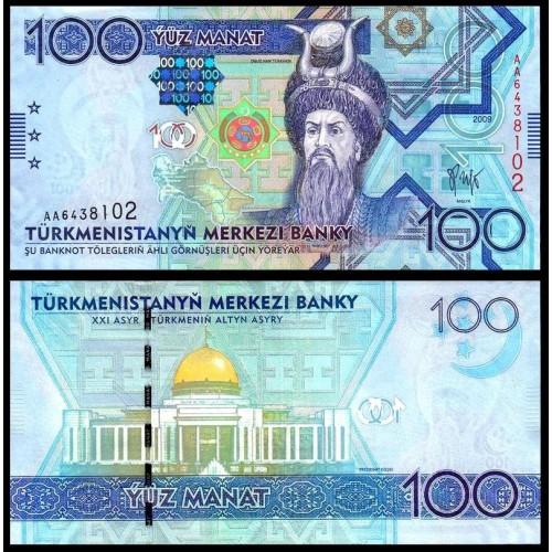 TURKMENISTAN 100 Manat 2009