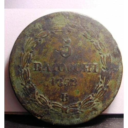 PIO IX 5 Baiocchi 1852 B...