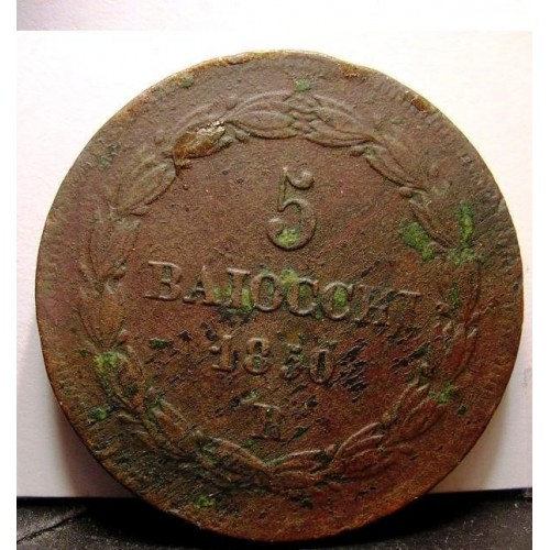 PIO IX 5 Baiocchi 1850 R...