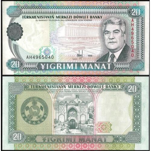 TURKMENISTAN 20 Manat 1995