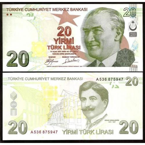 TURKEY 20 Lira 2009
