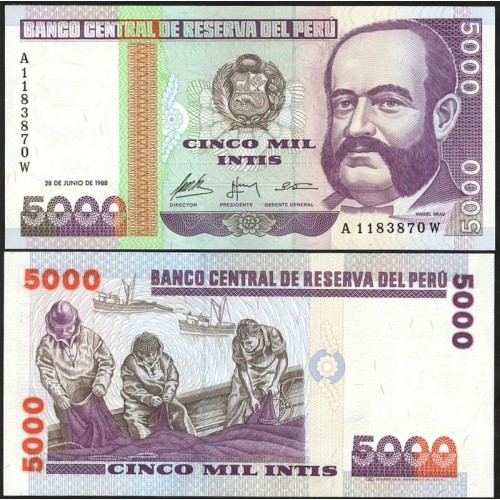 PERU 5000 Intis 1988