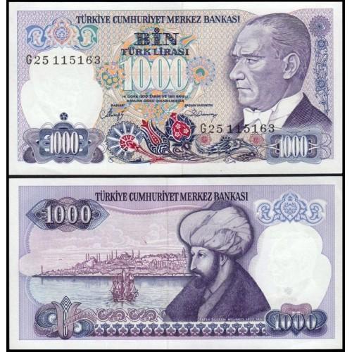 TURKEY 1000 Lira 1986