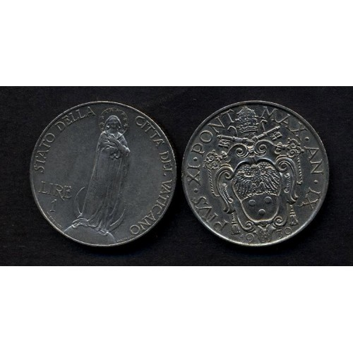 VATICANO Pio XI 1 Lira 1930