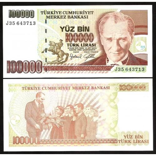TURKEY 100.000 Lira 1997
