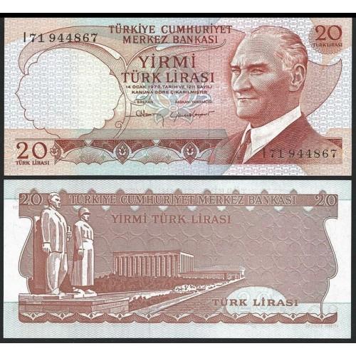 TURKEY 20 Lira L. 1970 (...