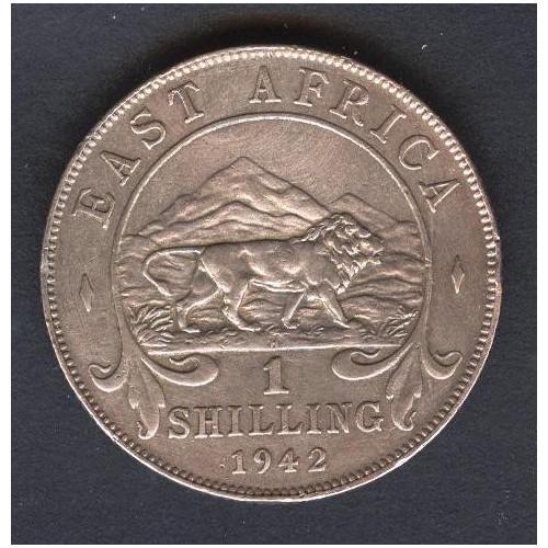 EAST AFRICA 1 Shilling 1942 AG