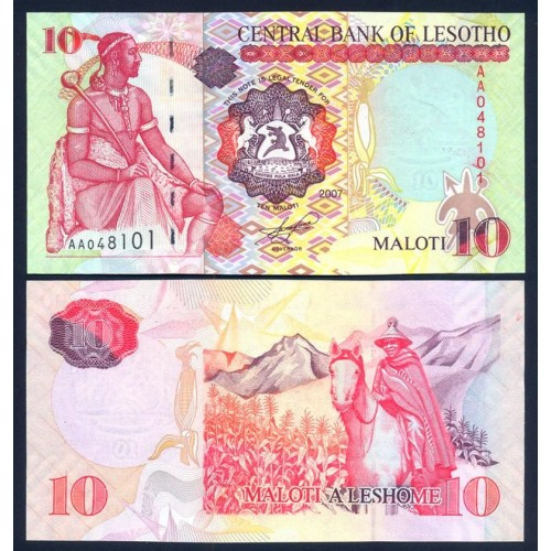 LESOTHO 10 Maloti 2007