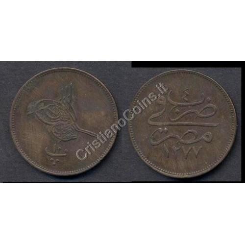 EGYPT 10 Para AH 1277/4...