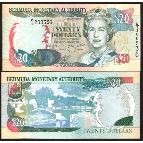 BERMUDA 20 Dollars 2000 (2008)