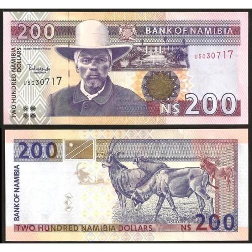 NAMIBIA 200 Dollars 2003