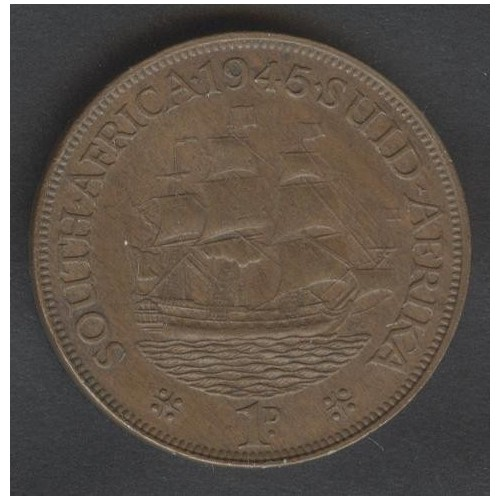SOUTH AFRICA 1 Penny 1945