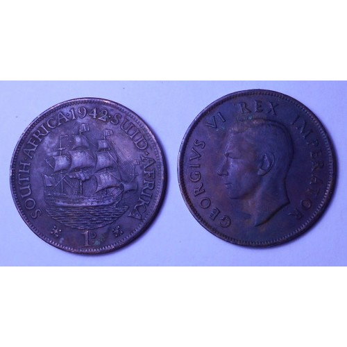 SOUTH AFRICA 1 Penny 1942