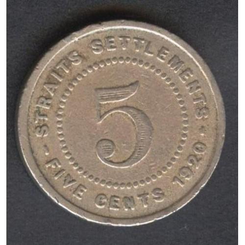 STRAITS SETTLEMENTS 5 Cents...