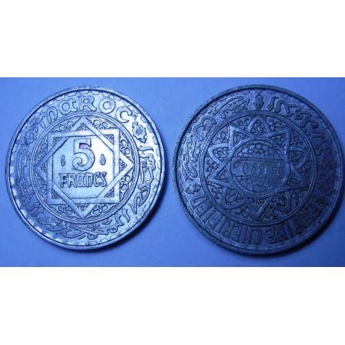 MOROCCO 5 Francs AH 1370