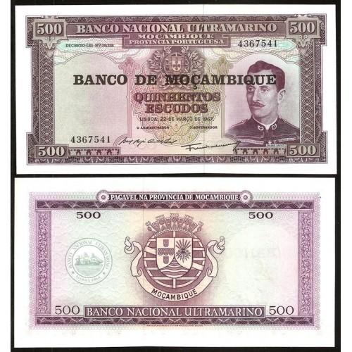 MOZAMBIQUE 500 Escudos 1976