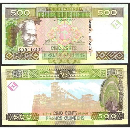 GUINEA 500 Francs 2012
